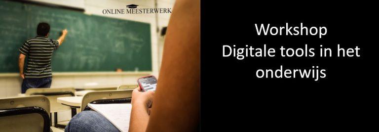 training workshop digitale tools in de klas